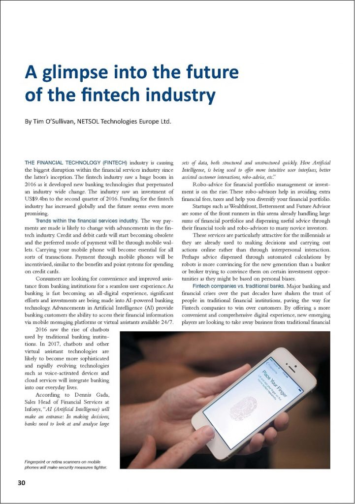 A glimpse into the future of the fintech industry