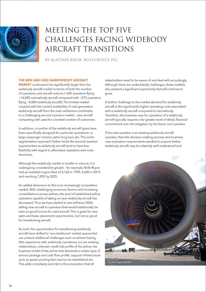 Meeting the top five challenges facing widebody aircraft transitions