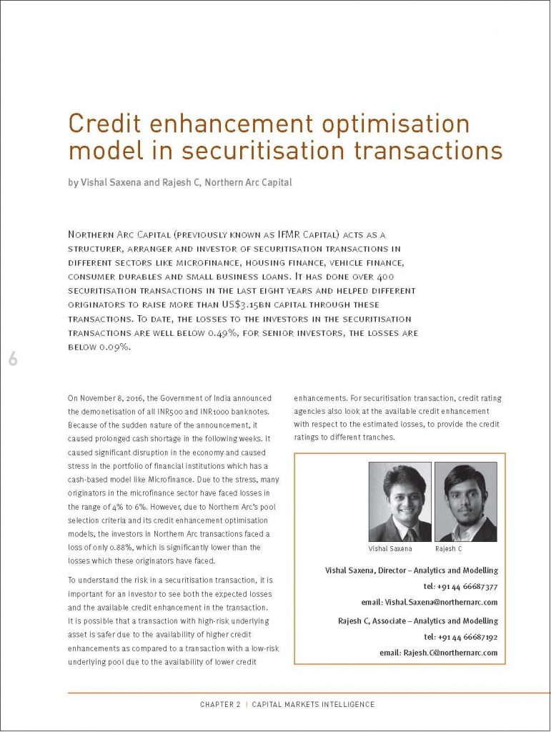 Credit enhancement optimisation model in securitisation transactions