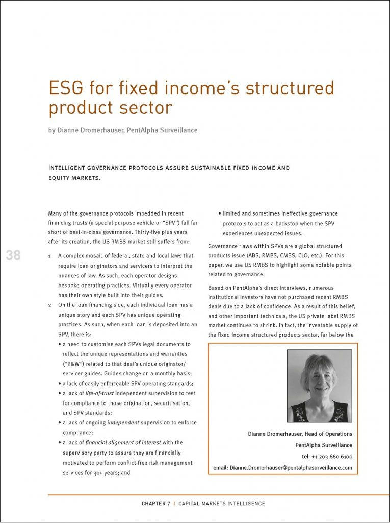 ESG for fixed income's structured product sector