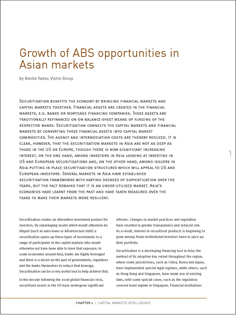 Growth of ABS opportunities in Asian markets