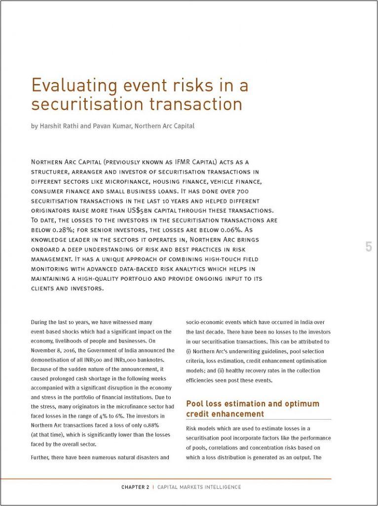 Evaluating event risks in a securitisation transaction